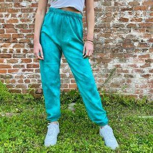 Blue tie dye sweatpants
